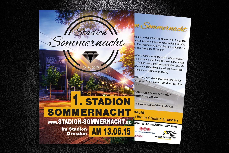 Flyer-Stadionnacht